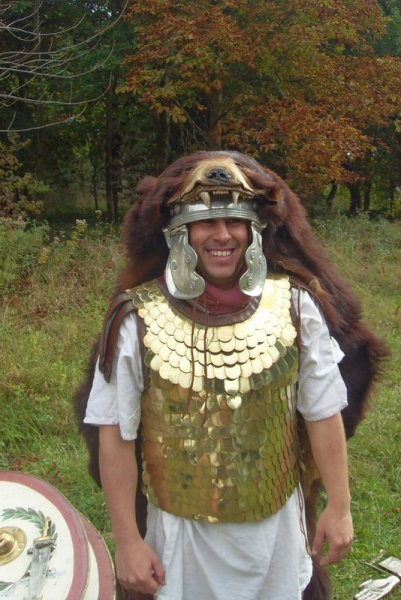 At some filming years back, turned out it was a real bearskin. Incredibly warm and drew the ire of at least one dog.