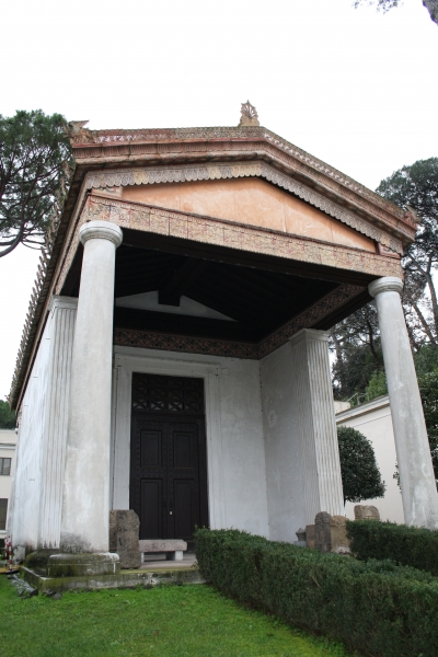 At Rome this recreated Etruscan temple, at the Villa Giulia. Well worth a visit.