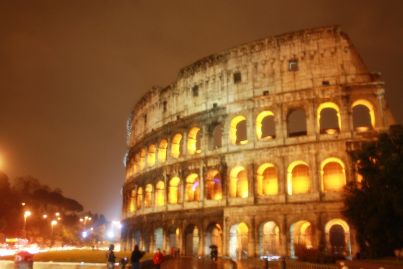 The Colosseum is incredible at night