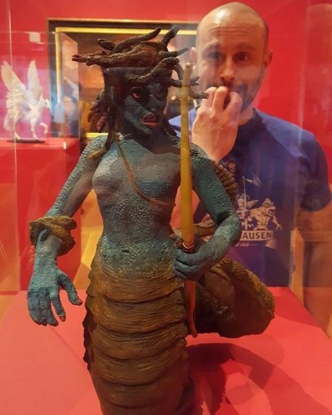 At the Harryhausen exhibition. Childhood nightmares.