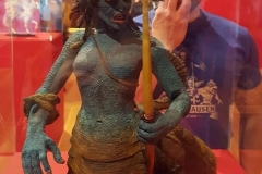 At the Harryhausen exhibition. Childhood nightmares.